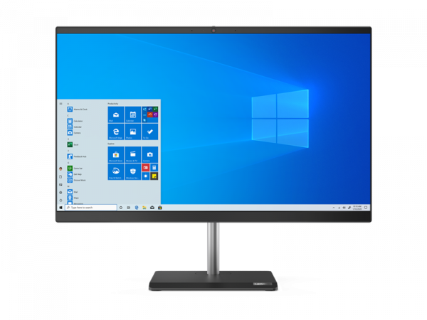 "Моноблок Lenovo V50a-24IMB All-In-One 23,8"" i3-10100T, 8GB, 256GB SSD M.2, Intel UHD 630, WiFi, BT, DVD-RW, USB KB&Mouse, Win 10 Pro64 RUS, 1Y OS"