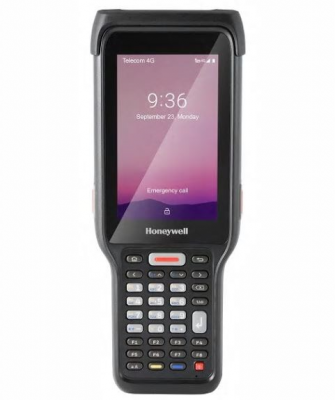 Honeywell EDA61K, Numeric, WWAN, 3G/32G, EX20 scan engine, 4'LCD WVGA, ,No camera,  Andriod P GMS, Extend battery, warm swap, SCP prelicensed, Rest of world