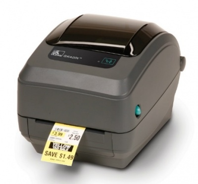 Zebra TT Printer GK420t; 203 dpi, EU and UK Cords, EPL, ZPLII, USB, Ethernet