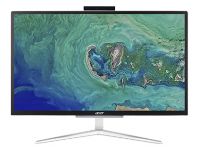 "ACER Aspire C22-865  All-In-One 21,5"" FHD(1920x1080),  i5 8250U, 8GbDDR4, 256GB SSD, Intel HD, noDVD-RW, WiFi+BT,USB KB&Mouse, silver, Win10Pro 1Y carry-in"