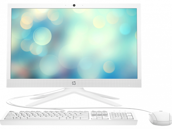 "Моноблок HP 21-b0024ur NT 20,7"" (1920x1080) Pentium J5040, 4GB DDR4-2400 SODIMM (1x4GB), SSD 256GB, Intel UHD Graphics 605, noDVD, USB kbd&mouse,  VGA webcam, Snow White, DOS, 1Y Wty"