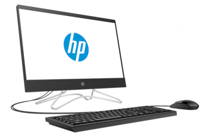 "Моноблок HP 22-c0016ur NT 21,5"" (1920x1080) Intel Pentium J5005,4GB DDR4-2400 SODIMM (1x4GB), 500GB, NVIDIA GT MX110 2GB GDDR5, no DVD, USB kbd&mouse, Privacy VGA webcam, Jack Black, Win10, 1Y Wty"