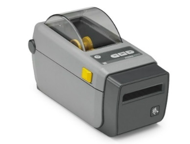 "Zebra DT Printer ZD410; 2"", 203 dpi, EU and UK Cords, USB, USB Host, BTLE, Ethernet Module, EZPL"